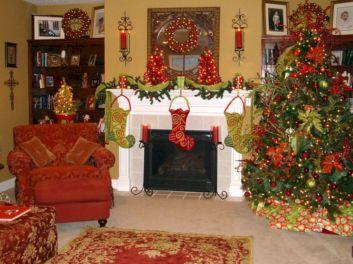 Fireplace Mantel Christmas Decors