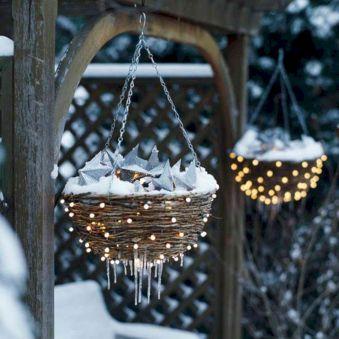 Outdoor Christmas Lights Basket