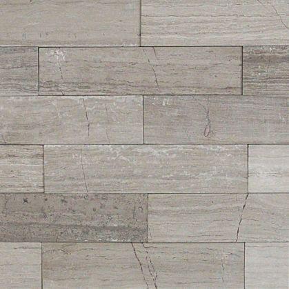 Brushed Wooden Beige Marble Stone Tile
