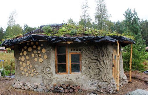 Cob House Roof