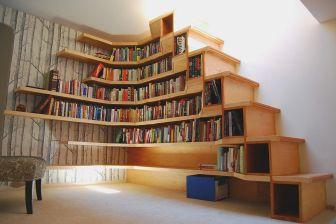 Cool Corner Bookshelf