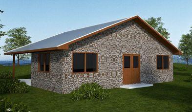 Cordwood House Plan
