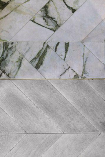 Herringbone Marble Floor