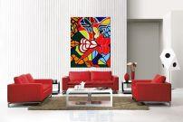 Home Interior Design Living Rooms Reds