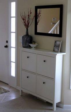 Narrow Entryway Shoe Cabinet In IKEA