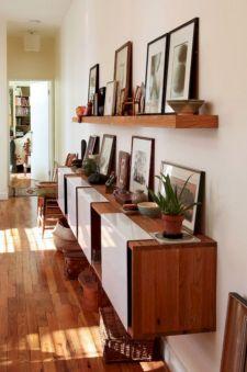 Narrow Hallway Storage Idea