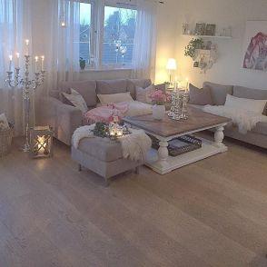 Shabby Chic Apartment Living Room 18