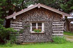Stacked Cordwood Houses