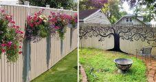 Backyard Fence Decorating Ideas