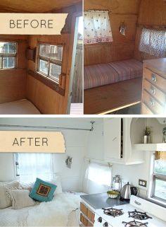 Camper Remodel Before After