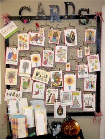 Christmas Greeting Card Display Ideas
