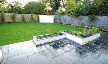 Contemporary Garden Fence