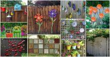DIY Garden Fence Decorations Ideas
