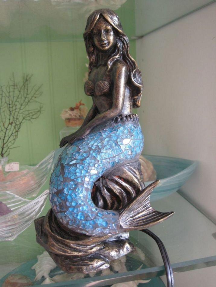Glass Mermaid Lamp
