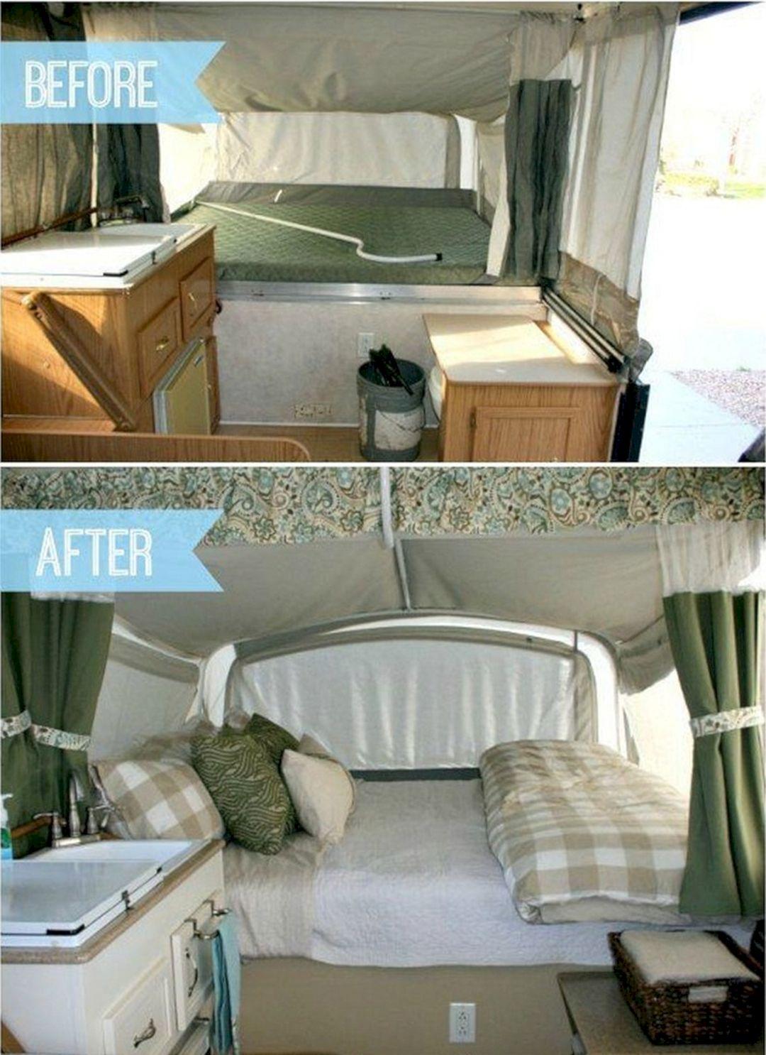 Pop Up Camper Remodel Before After Pop Up Camper Remodel