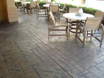 Stamped Concrete Patio Design Idea