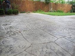 Stamped Concrete Patio Idea Design