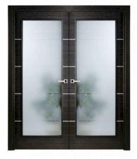 Wooden Door With Glass Designs