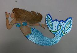 Wooden Mermaid Decor