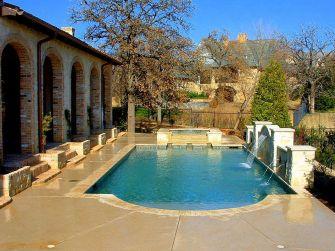 Back Yard With Pool Design Idea