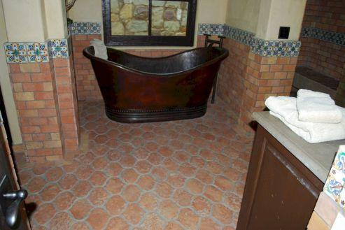Bathroom Tile With Terracotta
