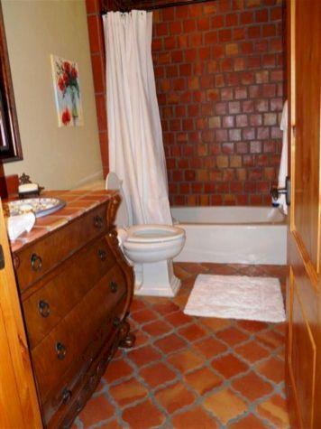 Bathroom With Saltillo Tile Floors