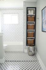 Bathroom With Subway Tile Shower Shelf