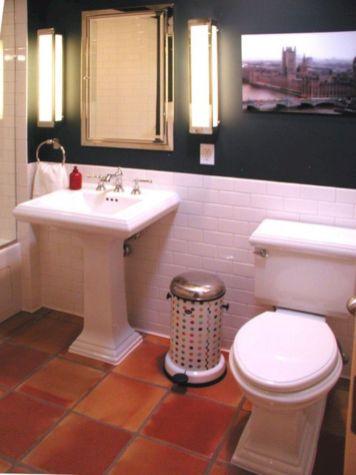 Bathroom With Terracotta Tiles