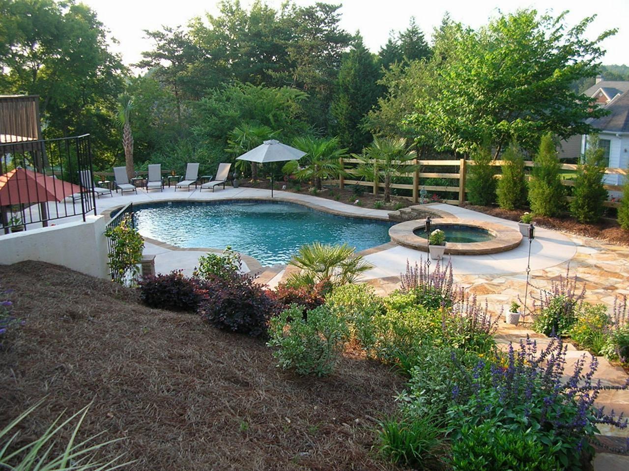 Big Backyard Pool Landscaping Ideas Big Backyard Pool