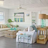 Coastal Cottage Style Decorating Living Room