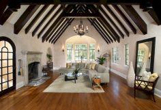 French Tudor Style Home Interior