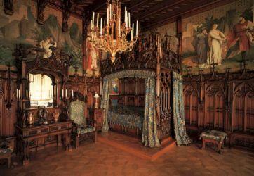 castle medieval interior bedroom gothic decor
