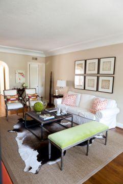 Living Room Rug Layering 128