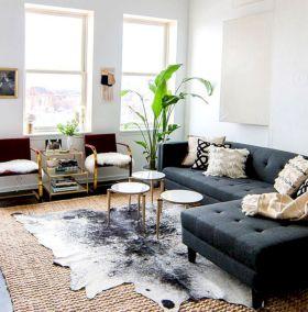 Living Room Rug Layering 17
