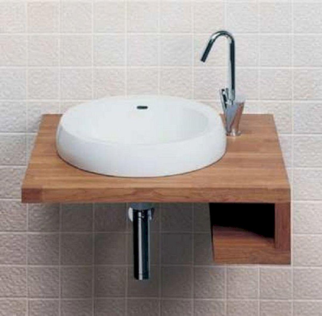 Small Bathroom Flat Sink Ideas 23
