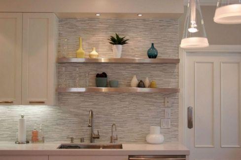 Contemporary White Kitchen Backsplash 110