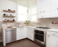 Contemporary White Kitchen Backsplash 113