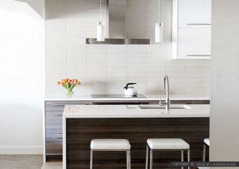 Contemporary White Kitchen Backsplash 114