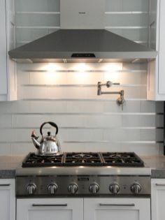 Contemporary White Kitchen Backsplash 115