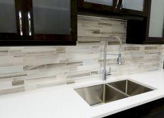 Contemporary White Kitchen Backsplash 117