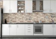 Contemporary White Kitchen Backsplash 14