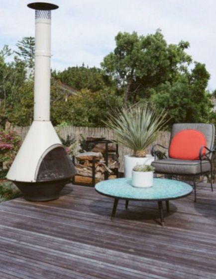 Mid Century Modern Outdoor Fireplace 19