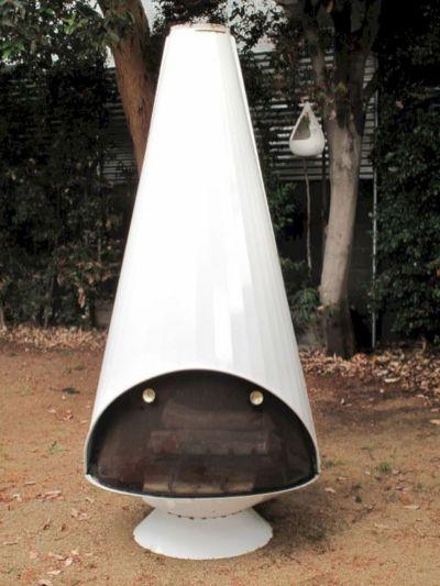 Mid Century Modern Outdoor Fireplace 25