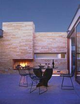 Mid Century Modern Outdoor Fireplace 4