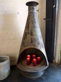 Mid Century Modern Outdoor Fireplace 6