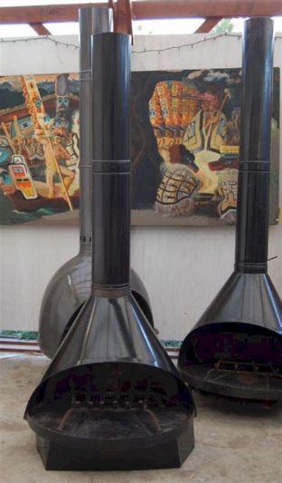 Mid Century Modern Outdoor Fireplace 9