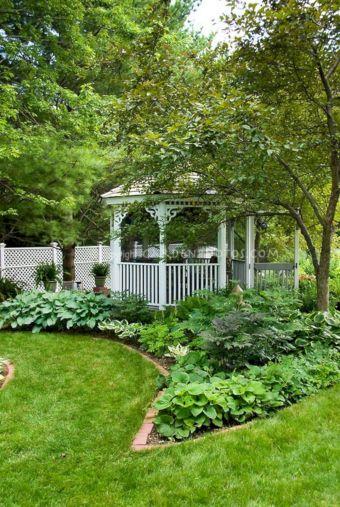 Backyard Flower Garden With Gazebo 24