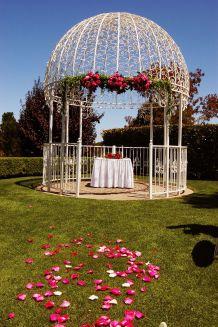 Backyard Flower Garden With Gazebo 5