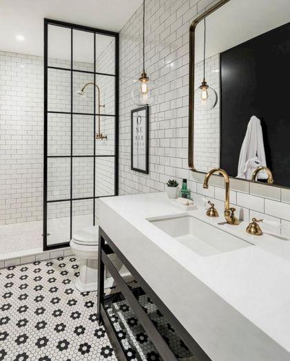 Industrial Small Bathroom Design 13