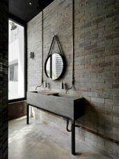 Industrial Small Bathroom Design 17